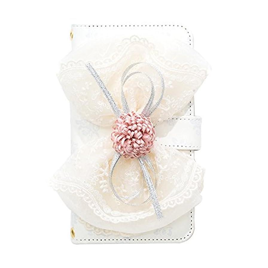 革命的シャベルレーニン主義ZenFone 3 Max ZC553KL(5) 手帳型ケース Ribbon×Lace (ホワイト) おしゃれ かわいい 送料無料 カード収納 耐衝撃 全面保護 スダンド機能 マグネット 高品質 リボン ふんわり エレガント 結婚式 薔薇 バラ レース
