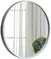 WOYAOFA リビングルーム装飾ミラー4サイズを選択することができます白い壁に取り付けられたドレッシングテーブルバニティミラー浴室の壁のデコレーションメタルフレーム メイクアップミラー (Size : Diameter: 31.5inch-80cm)