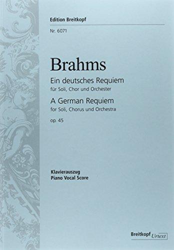 ブラームス:ドイツ・レクイエム Op.45 (独語)/ブライトコップ & ヘルテル社/合唱作品