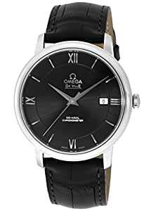 [オメガ]OMEGA 腕時計 デ・ビル ブラック文字盤 コーアクシャル自動巻 アリゲーター革ベルト クロノメーター 424.13.40.20.01.001 メンズ 【並行輸入品】