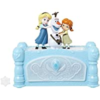 Frozen Musical Jewelry Box with Do You Want to Build A Snowman Song, Watch Anna & Elsa Built Olaf! Snowflake Ring Included! Perfect Birthday, Christmas, Hanukkah Gift - for Girls Ages 3+