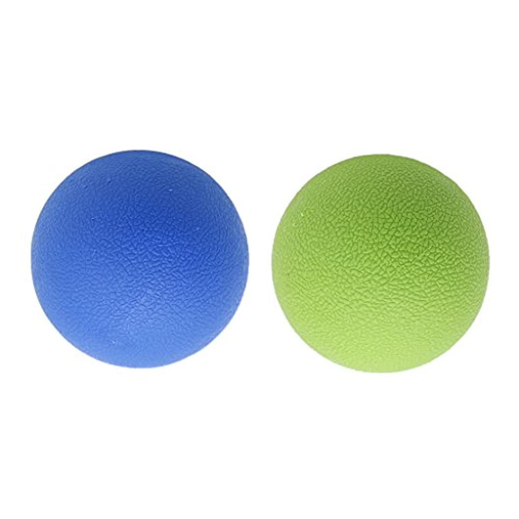 スカリー悲しみ力Baosity 2個 マッサージボール ストレッチボール トリガーポイント トレーニング マッサージ リラックス 家庭 ジム 旅行 学校 オフィス 便利 多色選べる - ブルーグリーン