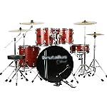 ドラム・パーカッション ドラム大人の子供のジャズドラム5ドラム4シンバルプロの演奏ドラムセット初心者のパーカッション楽器子供のおもちゃ (Color : Red, Size : 100*120cm)