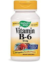 Nature's Way - ビタミンB6 100 mg。100カプセル