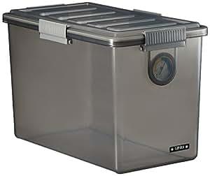 ナカバヤシ キャパティ ドライボックスS カメラ保管 20L クリアブラック DB-S1-CD