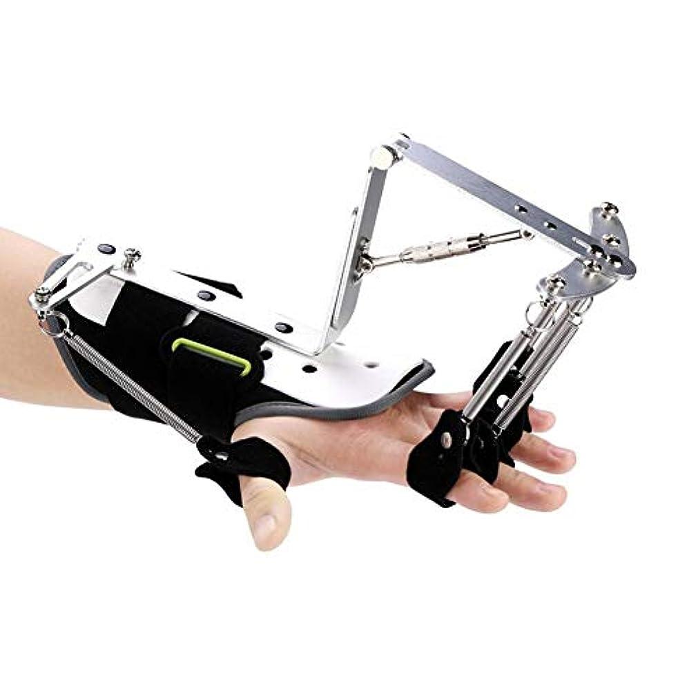 手首装具エクササイザー、手首装具リハビリテーショントレーナー腱運動脳卒中片麻痺のための調節可能な指副木プロテクター