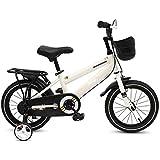 HAIZHEN キッズバイク, 子供用自転車、2?5歳までのお子様用自転車とバスケット、12インチ/ 14インチ/ 16インチバイク用(男の子用と女の子用) (Color : White, Size : 14inch)