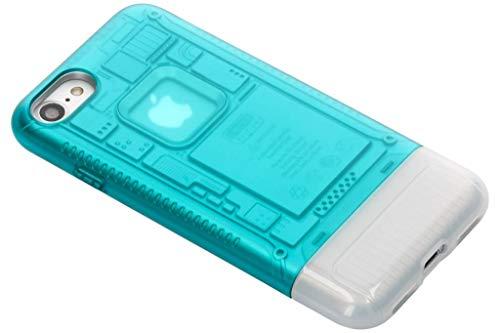 【Spigen】 「iMac G3 20周年限定版」 スマホケース iPhone8 ケース iMac 完全再現 Classic C1 耐衝撃 米軍MIL規格取得 スケルトンデザイン 054CS24401 (ボンダイ・ブルー)