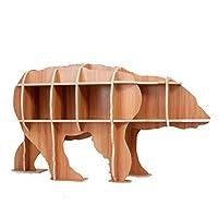 装飾書棚クリエイティブ家具ディスプレイブックシェルフマガジンラックスタジオ、リビングルーム、またはチルドレンウッドブックケース,D