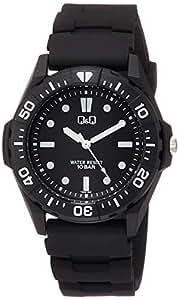 [シチズン キューアンドキュー]CITIZEN Q&Q 腕時計 アナログ スポーツ 10気圧防水 ウレタンベルト ドット ブラック VS28-003