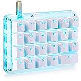 フルプログラム可能 メカニカルキーボード カスタマイズ可能 ゲーミングキーボード 23キー マクロキー 青色バックライト 片手小型キーボード Windows/Mac対応 ショットカットキー プログラマー向き DIYキーボード(赤軸 ブルーバックライト)