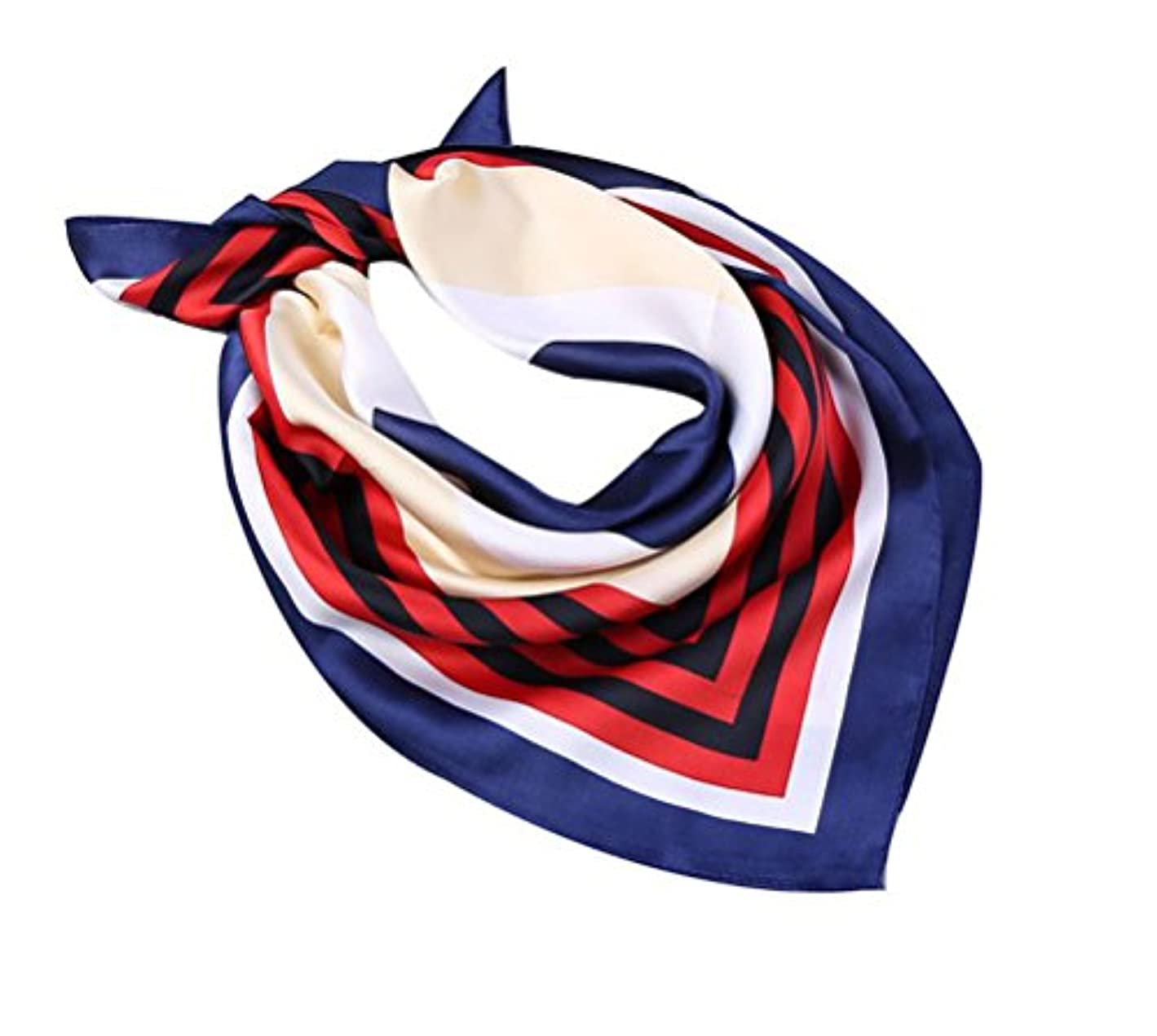 アボートモーテル製造業J-LAVIE レディース スカーフ シルク調 お洒落 正方形 60cm オフィス 制服用 贈り物 ギフト プレゼント