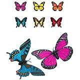 まるで生きているかのような蝶々の動きにビックリ!!【ソーラーモーションバタフライ (50367アゲハイエロー)】