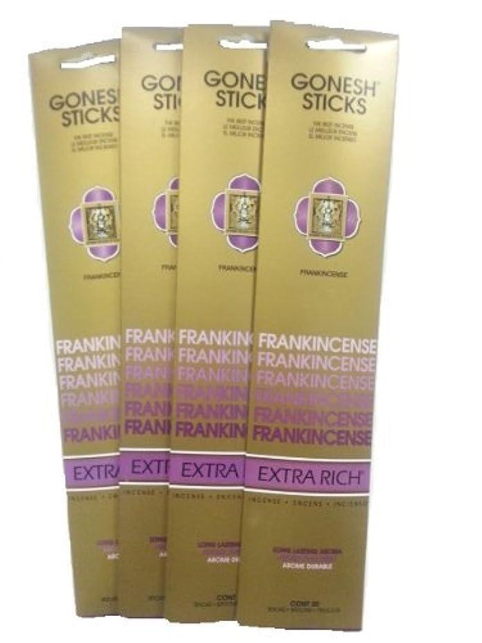 致死アダルト不安Gonesh Incense Sticks – Frankincense Lot of 4