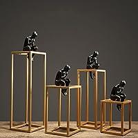 現代ミニマルリビングルーム幾何学装飾オフィスデスクトップ金属思想家アートワークデコレーション ( サイズ さいず : E )