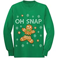 Gingerbread Man Cookie Oh Snap Funny Youth Kids Long Sleeve T-Shirt