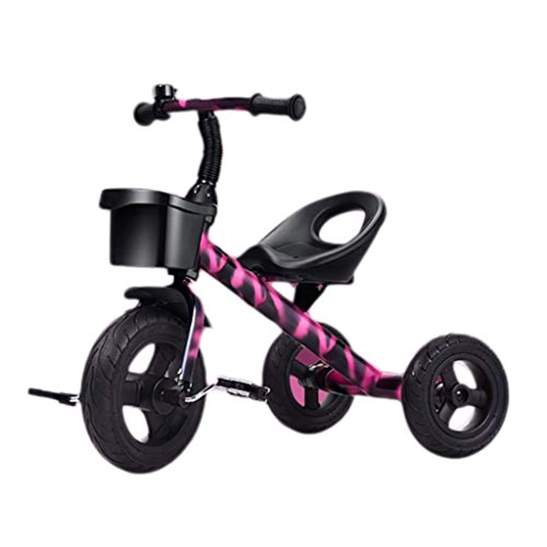 三輪車、大型子供を持つ3-in-1多目的三輪車、耐久性、1?5歳の赤ちゃん屋外三輪車、4色、55x68x41cm(サイズ:パープル)