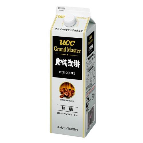 UCC Grand Master 炭焼珈琲 無糖 1L