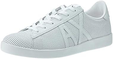 Armani Exchange A|X Sneaker Men's Sneakers, White+White, 7 US