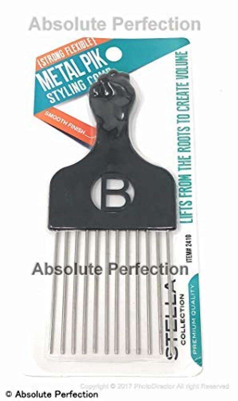統合ポータブル秘書Pro Grade Magic High Quality Hair Pick Afro Pick Styling Pik Metal Pik (Pack of 1) 6.65 Inch [並行輸入品]