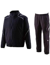 デサント(DESCENTE) トレーニングジャケット?パンツ上下セット スチールネイビー×ホワイト DBX1400-DBX1400P-SNVY (M)