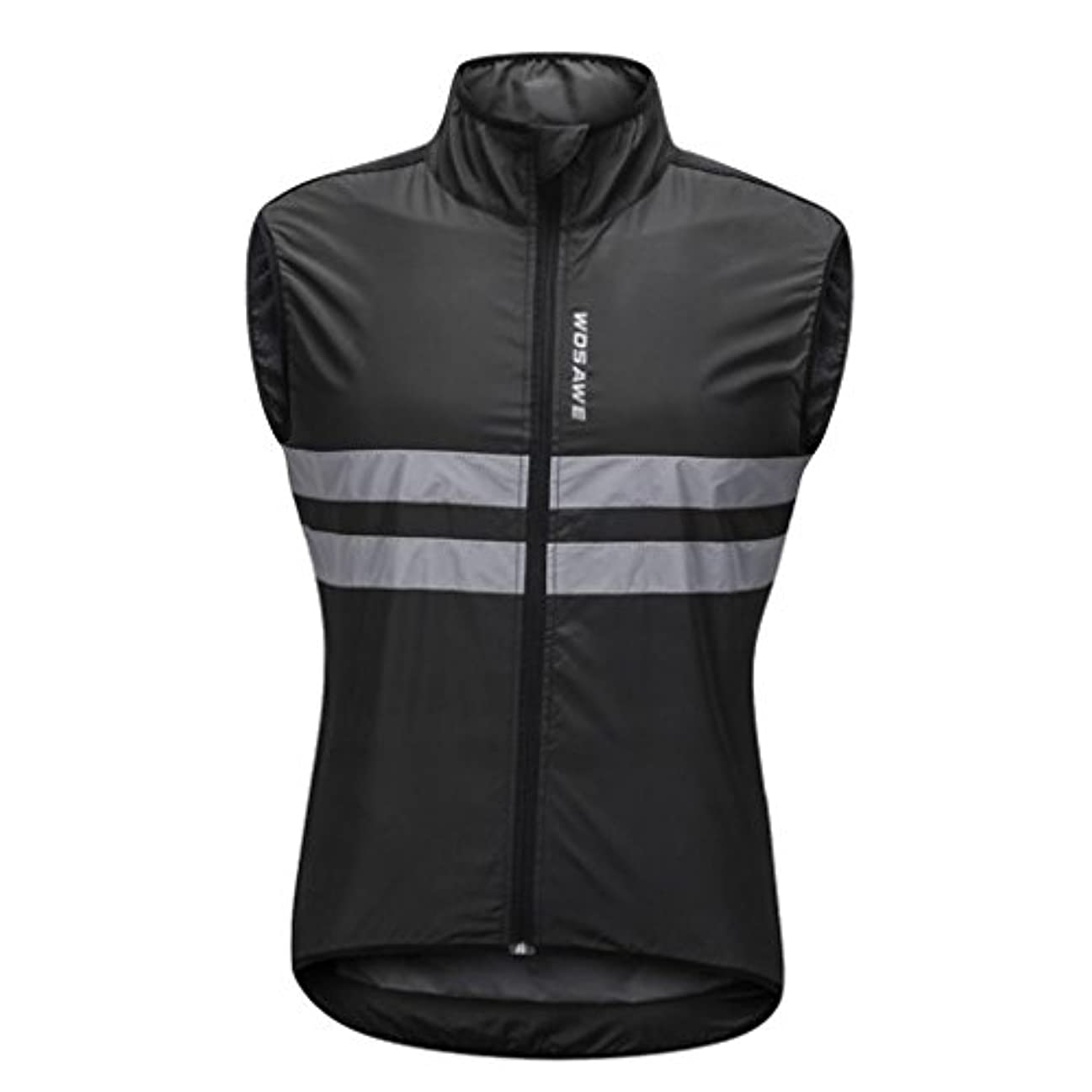 スカーフ惑星赤字Homyl リフレクティブ バイク サイクリング ノースリーブ 防風ベスト ランニング スポーツ コート 全5サイズ