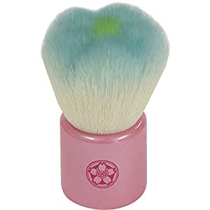 fws-BL 熊野筆 六角館さくら堂 フラワー洗顔ブラシ ブルー 山羊毛/PBT混毛