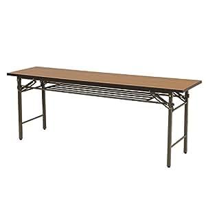 山善(YAMAZEN) サイバーコム 会議用テーブル(幅180奥行45) ブラウン MCT-1845H