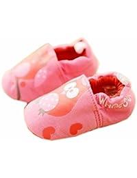 ベビーファーストウォーカーソフトソールコットン幼児の靴レッドフクロウ