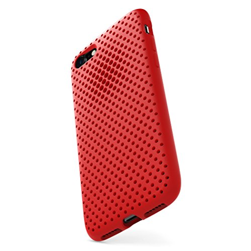 AndMesh iPhone 7 ケース メッシュケース 日本製 耐衝撃 | レッド 赤 AMMSC701-RED