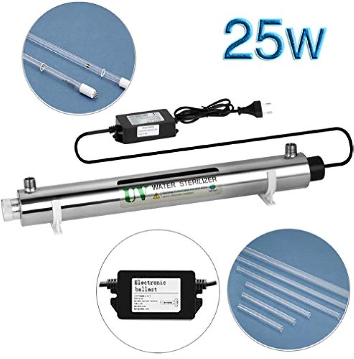 マラドロイトブリッジ刃全体の家のための25W紫外線浄水殺菌、6GPM 220Vモデル、1個のエクストラUV電球