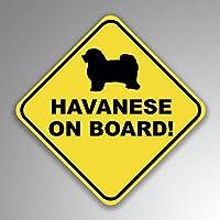 JMM Industries Havanese On Board デカールステッカー 2枚パック 4インチ 4インチ プレミアム品質のビニールステッカー UV保護ラミネート加工 PDS1246