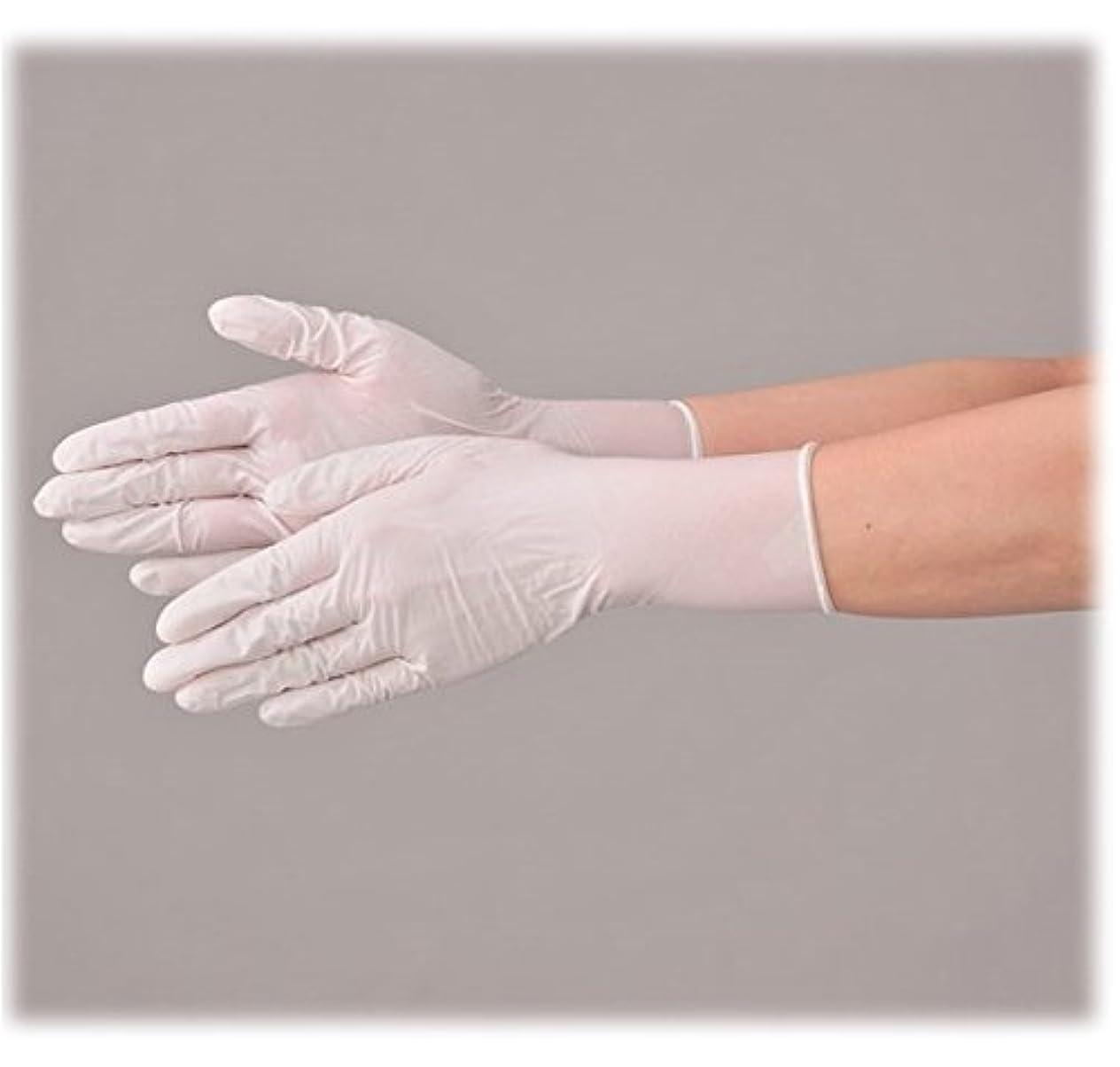 光電ポゴスティックジャンプカーテン使い捨て 手袋 エブノ 533 ニトリルNEO ホワイト Lサイズ パウダーフリー 2ケース(100枚×60箱)
