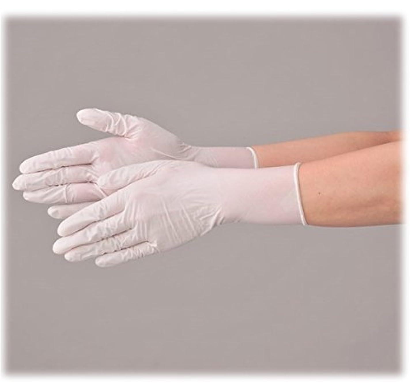 浅い機関部屋を掃除する使い捨て 手袋 エブノ 574 ニトリルNEOプラス ホワイト Lサイズ パウダーフリー 2ケース(100枚×40箱)