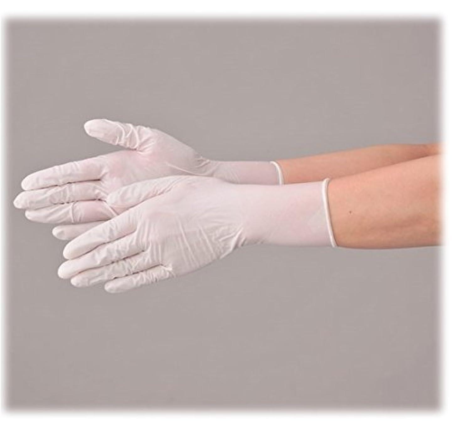 横にわな隠使い捨て 手袋 エブノ 572 ニトリルNEOプラス ホワイト Mサイズ パウダー付き 2ケース(100枚×40箱)