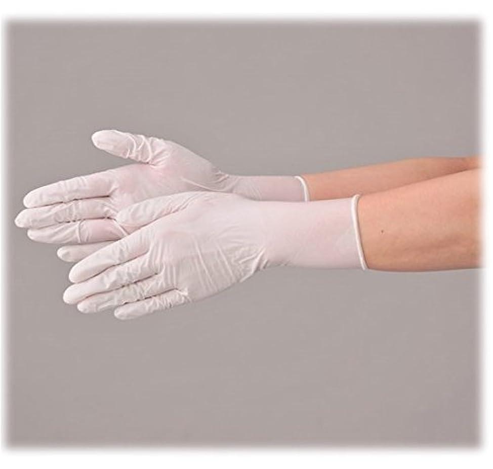 使い捨て 手袋 エブノ 513 ニトリル極薄手袋 ホワイト Lサイズ 2ケース(100枚×40箱)