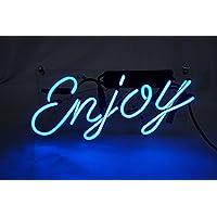 """Desung新しい17"""" Enjoyカスタムデザイン装飾アクリルパネルハンドメイドRealガラスチューブネオンライトsign-uniqueアートワーク。zb01"""