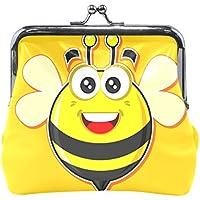 がま口 財布 口金 小銭入れ ポーチ ミツバチ 幼稚園 Jiemeil バッグ かわいい 高級レザー レディース プレゼント ほど良いサイズ