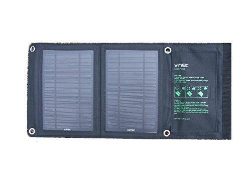 Vinsic ソーラーパネル 8W USB チャージャー F...