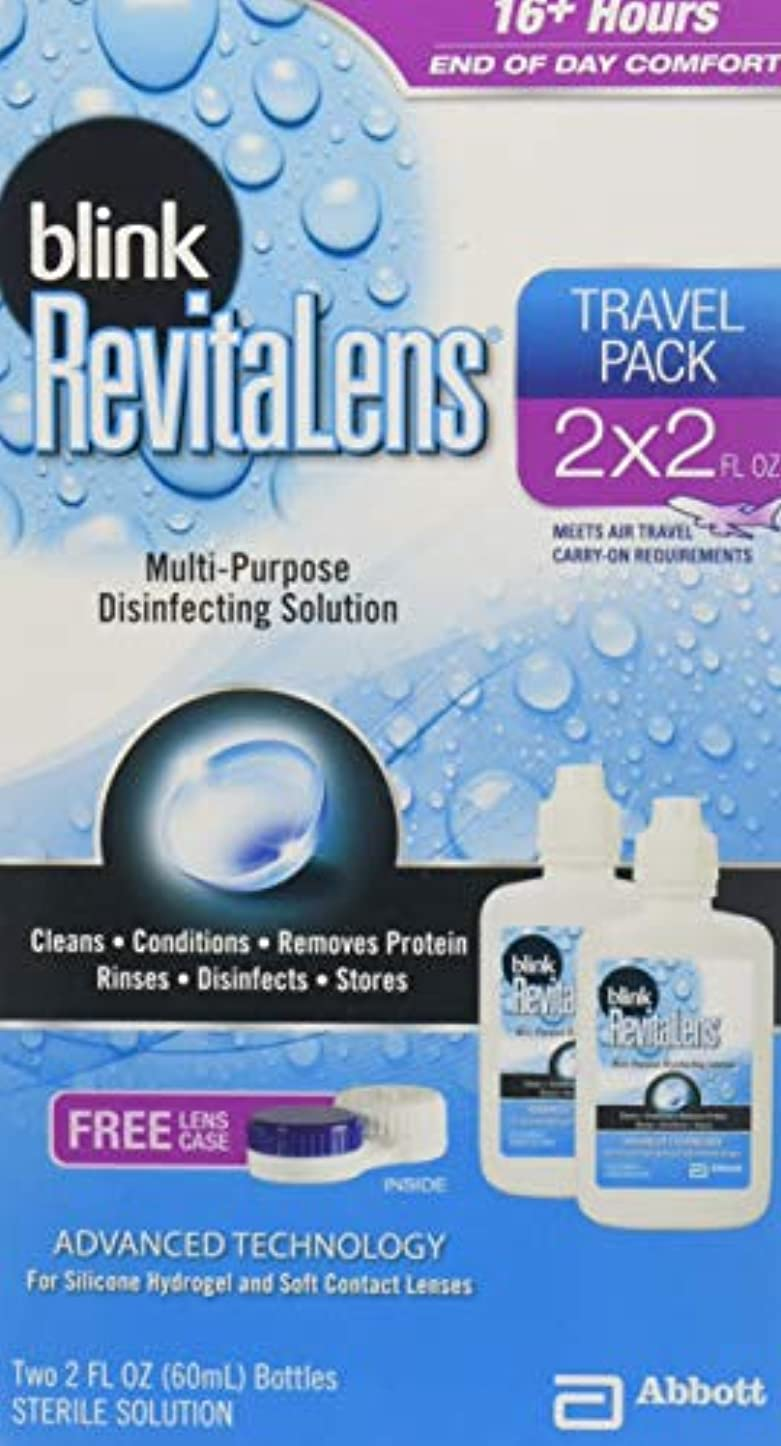 寮肉のドームRevitaLens 多目的消毒ソリューションブリンク、二つの2オンス(3パック) 3パック