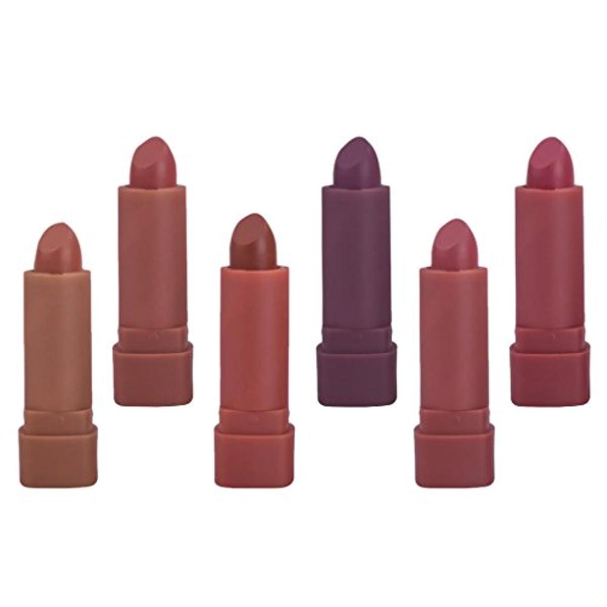切手エミュレーション人口紅 ミニ ベルベット マット リップスティック 化粧品 メイクアップ 6色セット