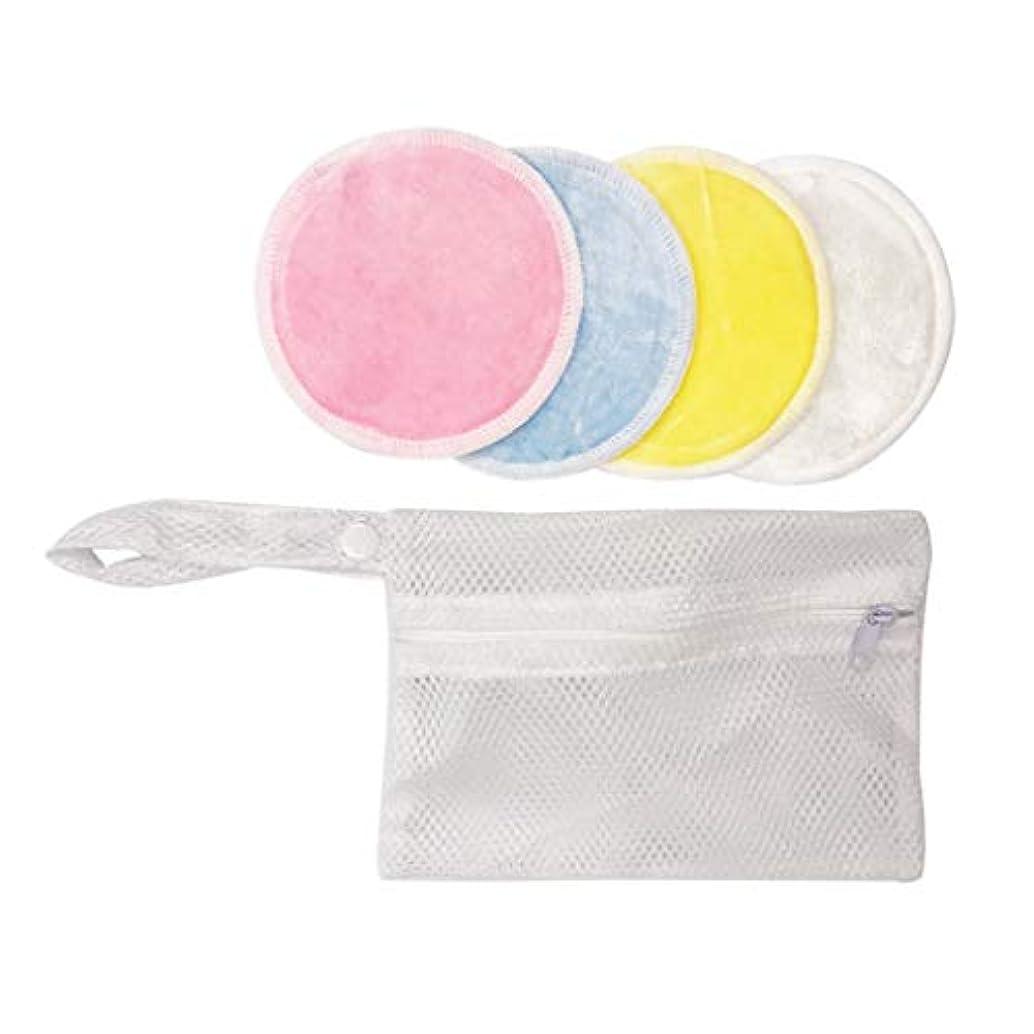 アラバマ動コンバーチブルdailymall コットンパフ 化粧コットン 化粧水パッド 敏感肌 顔拭き メイク落とし 洗濯可能 丸型 4個入り