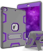 Topsky [キックスタンド機能]、衝撃吸収/High Impact Resistant Armor Defender Case For Ipad Air 2013年リリース iPad Air Case (2013 Model) パープル TLIPAD5-C3K-GYPU