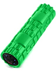 SUVIUS Medium Vibrating Foam Roller – 4強度レベルFirm for battery-powered Deep Tissueリカバリ、トレーニング、マッサージ – Therapeutic...