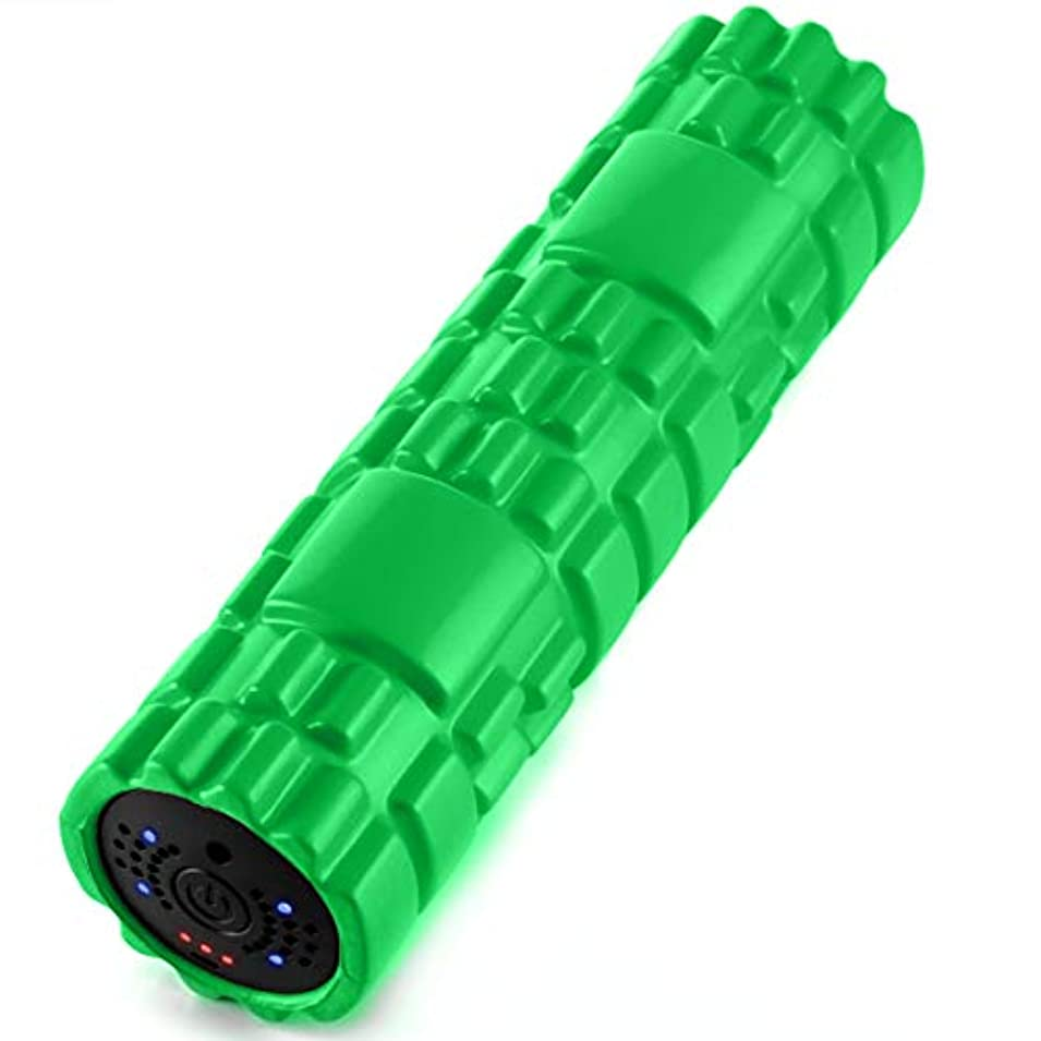 ウォーターフロントハイランド写真SUVIUS Medium Vibrating Foam Roller – 4強度レベルFirm for battery-powered Deep Tissueリカバリ、トレーニング、マッサージ – Therapeutic...