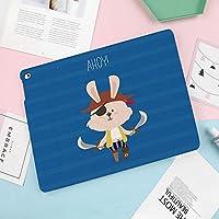 iPad Air 2019 ケース iPad Air3 10.5インチ ソフトカバー TPU 耐衝撃 傷防止 オートスリープ機能 軽量 薄型 二つ折りスタンド スマートカバー 2019年発売の10.5インチ iPad 対応アイパッチと刀でかわいい海賊うさぎうさぎ面白いグラフィック漫画