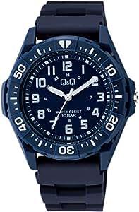 [シチズン キューアンドキュー]CITIZEN Q&Q 腕時計 アナログ スポーツ 10気圧防水 ウレタンベルト ネイビー VS32-001