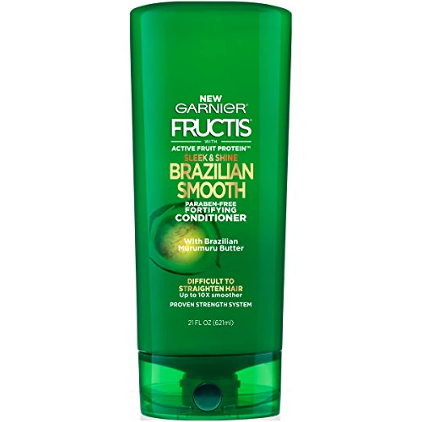 絡み合い開始拍手Fructis Sleek & Shine Brazilian Smooth Conditioner