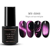 Lookathot 5D Magic Cat Eye Lid Cat's Eye Magnetic Phototherapy Glue Metallic Mirror Effect Laser Gradient Color Changing Creative S Black Hole Gemstone Styles Manicure DIY Decoration Tools
