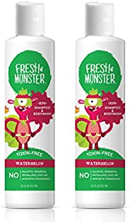 Fresh Monster Kids Shampoo and Body Wash, 8.5 Ounce, 2 Count